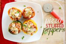 Sausage Pizza Stuffed Peppers Photo