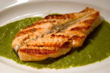 Grilled Red Snapper With Herb Pesto Photo