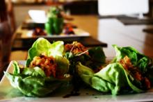 Quinoa and Turkey Lettuce Wraps Photo