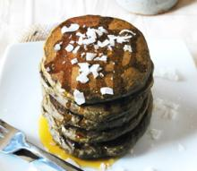 Whole Grain Green Tea Pancakes Photo