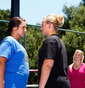 Rebecca and Amanda Face-off