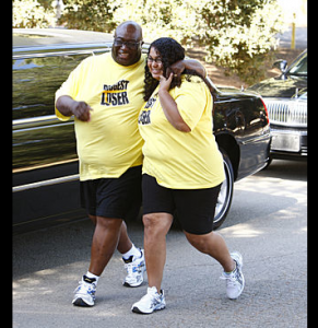 SunShine and O'Neal Hampton Arrive At Biggest Loser Ranch