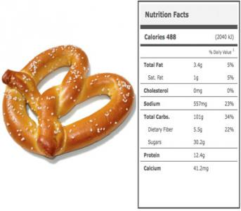 Calories in a Stadium Soft Pretzel