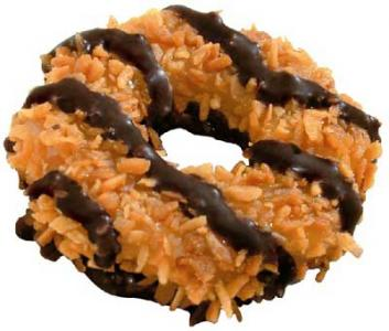 chocolate caramel coconut cookie tip well