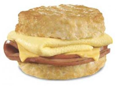 Hardee's Fried Bologna Biscuit Sandwich
