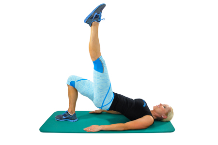 Shoulder Bridge with Leg Extension