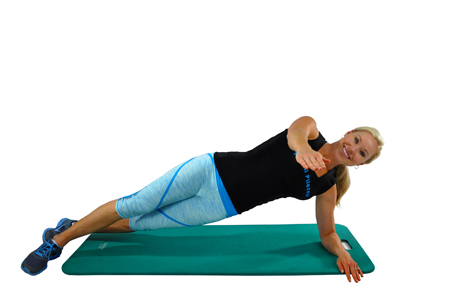 Side Plank with Arm Extension Action