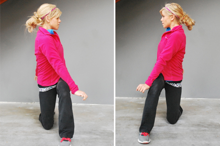 Crossover Reverse Lunge