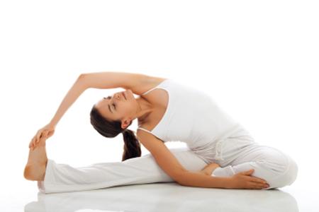 revolved headtoknee pose  saturday morning drills yoga