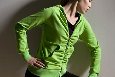 ActiveSoy Ruched Jacket by Gaiam