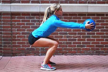 Squat with Forward Extension