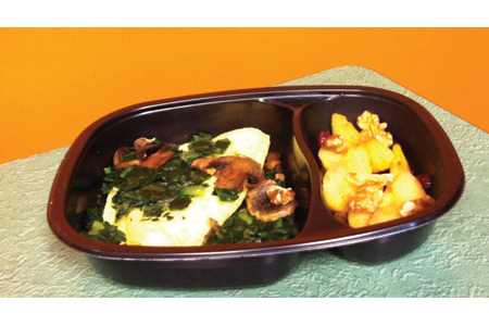 Bistro MD Spinach Mushroom Omelet with Waldorf Apples