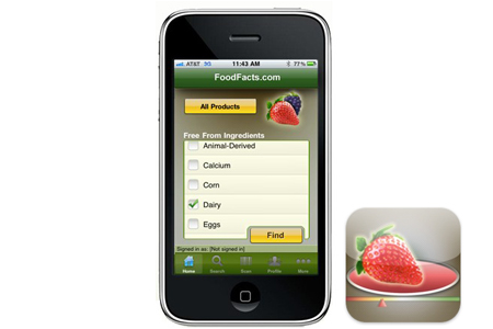 Try the FoodFacts.com iPhone App