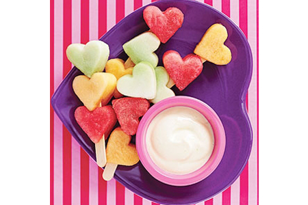 Heart-Shaped Melon Kabobs