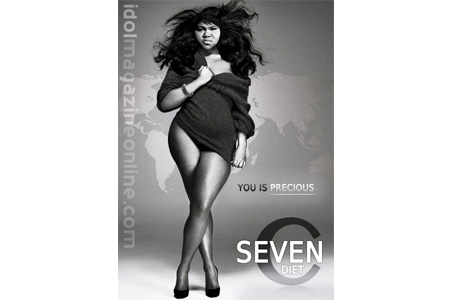Gabourey Sidibe Seven Continents Diet Ad
