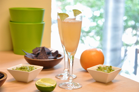 Grapefruit and Lime Mimosas