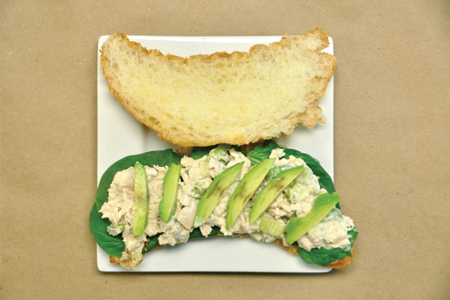 Green Chicken Salad Sandwich