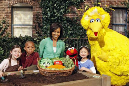 Michelle Obama on Sesame Street