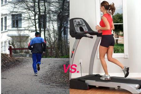 Treadmill vs Road Running