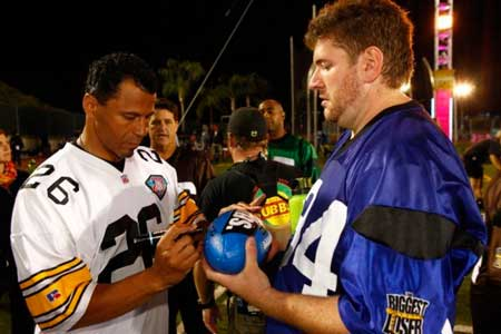 Rudy with NFL's Rod Woodson