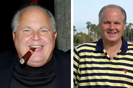 Before and After photos for Rush Limbaugh Weight Loss Diet Story.