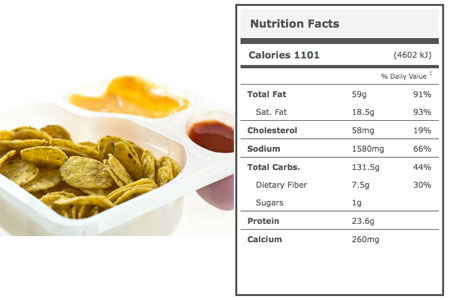 Calories in Stadium Nachos with Cheese