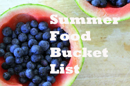 Summer Food Bucket List