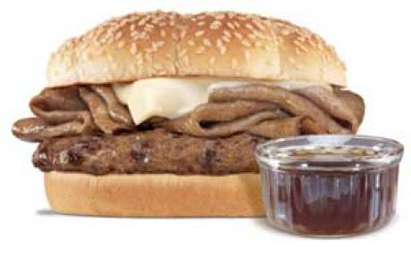 Hardee's French Dip Thick Burger