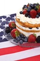 Fourth of July Celebration Cake Photo