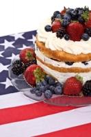 Fourth of July Celebration Cake Photo