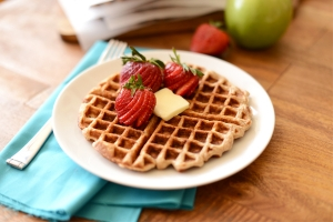 Apple Cinnamon Oatmeal Waffles Photo