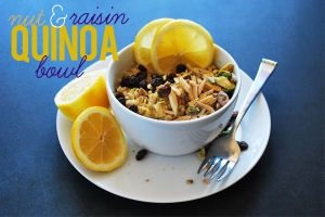 Raisin and Nut Quinoa Bowl Photo