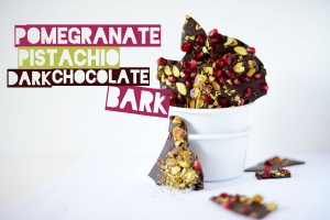 Pomegranate Pistachio Dark Chocolate Bark Photo
