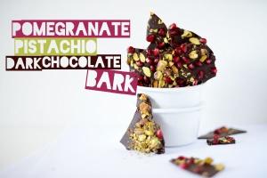 Pomegranate Pistachio Dark Chocolate Bark Photo