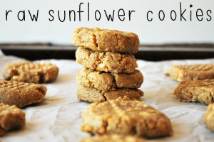 Raw Sunflower Butter Cookies Photo