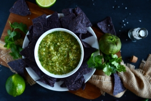 Roasted Tomatillo and Pineapple Salsa Photo