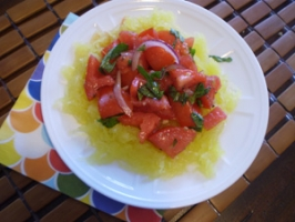 Spaghetti Squash with Fresh Tomato and Basil Sauce Photo