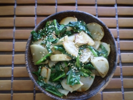 Asian Turnip and Turnip Greens Stir-Fry Photo
