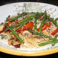 Asparagus With Penne Pasta Photo