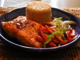 Baked Salmon Dinner Photo
