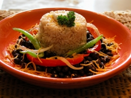 Black Beans and Rice Photo