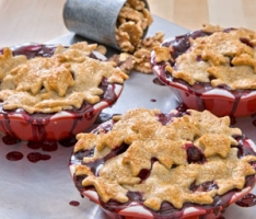 Top-Only Real Blueberry Pie Photo