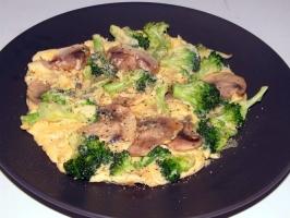 Broccoli Mushroom Omelet Photo