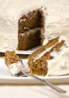 Carrot Cake With Cream Cheese Frosting Photo
