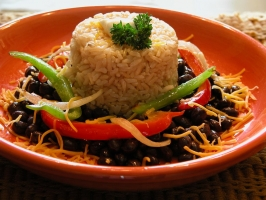 Cuban Beans and Rice Photo