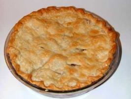 Deep Dish Apple Rhubarb Pie Photo