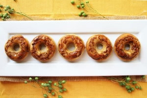 Apple Cinnamon Streusel Doughnuts Photo
