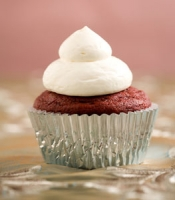 Red Velvet Cupcakes with Whipped Cream Cheese Frosting Photo