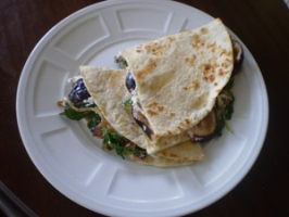 Quesadillas with Goat Cheese, Figs and Caramelized Onions  Photo
