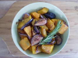 Roasted Butternut Squash and Figs with Rosemary Photo